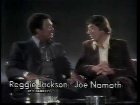 Reggie Jackson & Joe Namath 1977 Brut Aftershave Commercial
