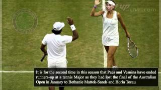 Leander Paes Vesnina end runners up at Wimbledon