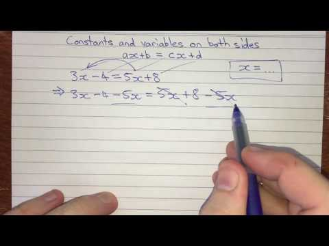Solving for x in ax+b=cx+d
