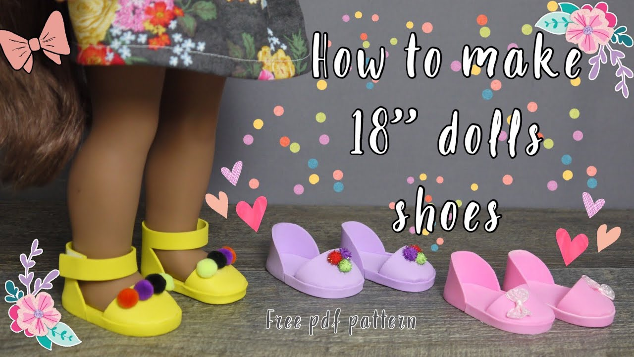 image regarding 18 Inch Doll Shoe Patterns Free Printable named Do it yourself doll Footwear/Sandals for 18\