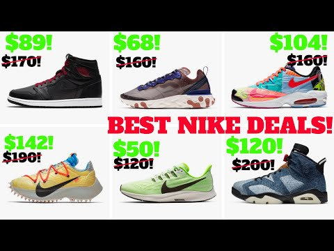 Top 10 Nike / Jordan SNEAKER DEALS Right Now UNDER $100! (Mostly)!