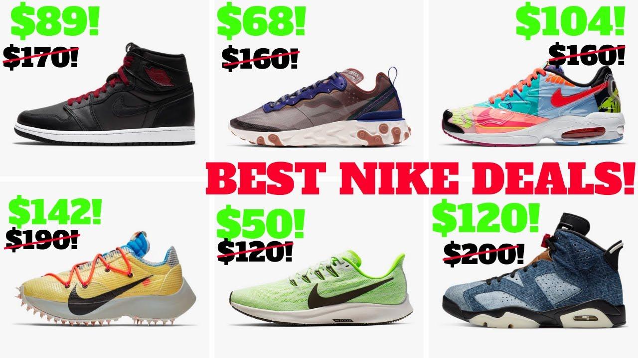 Top 10 Nike / Jordan SNEAKER DEALS