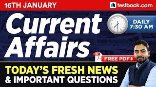 #215 : 16 January 2019 Current Affairs in Hindi | January 2019 Current Affairs Questions | GK Tricks