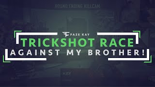 The Trickshot Race Against My Brother #15 (INSANE SHOT)
