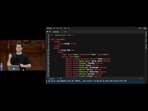 CS50 2017 - Lecture  6 - HTTP (pre-release)