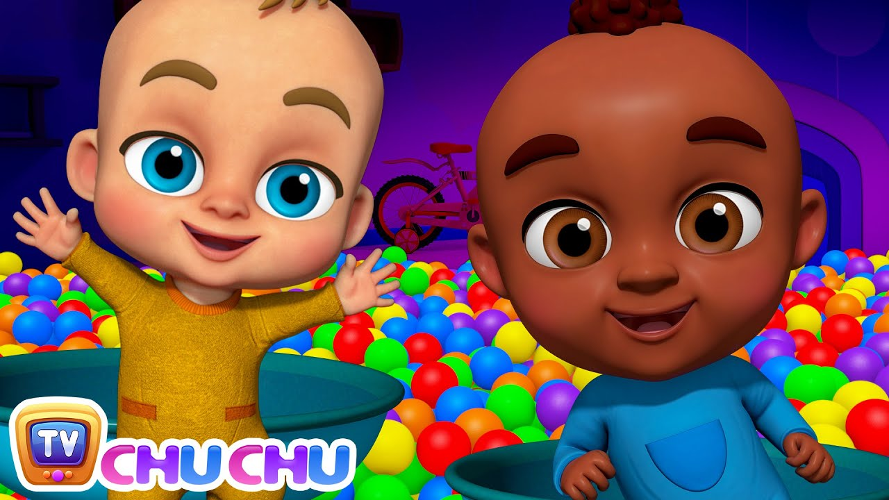 Babies Play Peek a Boo to Surprise Daddy - Johny Johny Yes Papa Song - Ball Pit Show for Kids