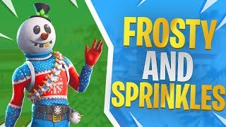 Frosty & Sprinkles - Fortnite Snowman Skin Gameplay