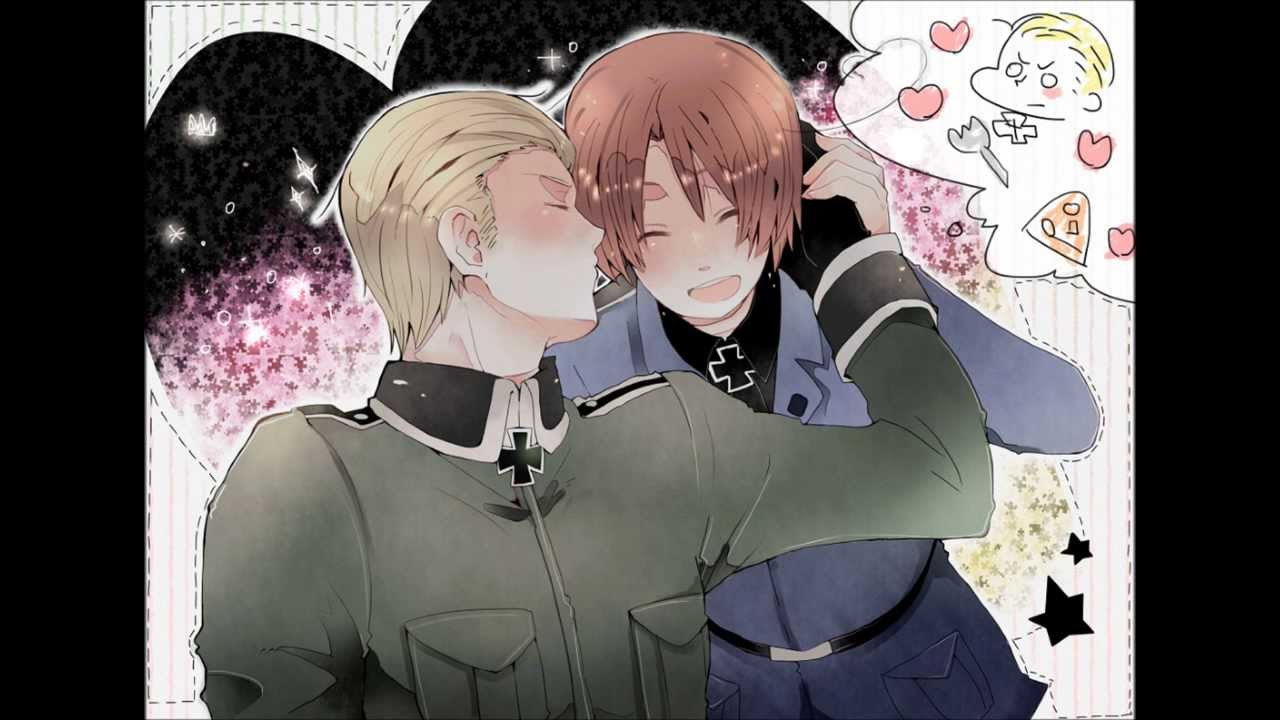 Germany and italy kiss