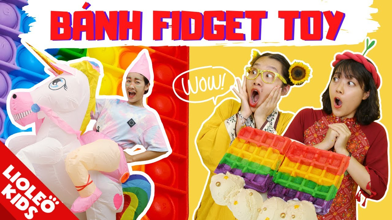 LÀM BÁNH CẦU VỒNG POP IT độc nhất Việt Nam - Nấu ăn theo tranh vẽ Hoàng Tử Kì Lân!!!