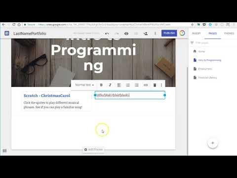 Freshman Seminar: Google Site Links