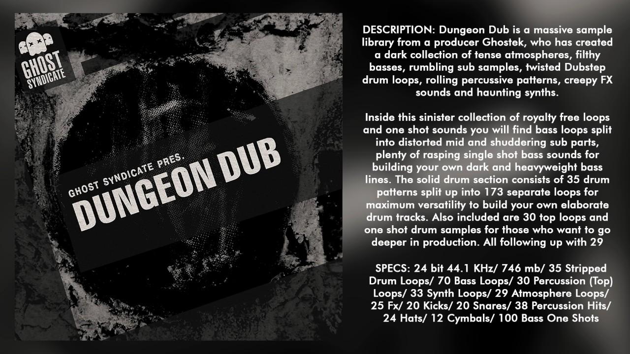 SAMPLE PACK: Dungeon Dub (Royalty Free): Deep Dubstep/ Dub/ Grime ...