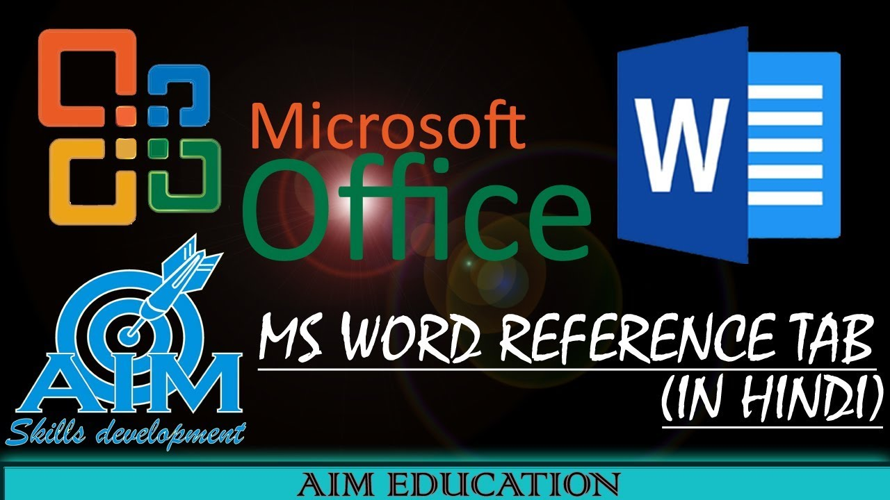 MS Word reference tab in hindi | ms word 2007 | full video tutorial |