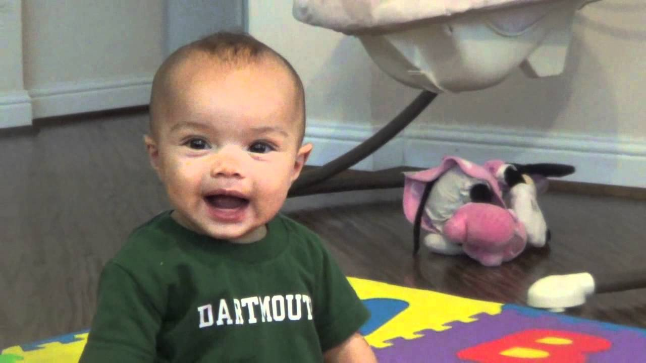 Extremely Happy Babbling 7 Month Old Baby Boy Youtube