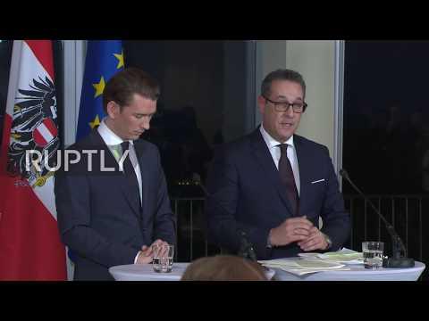 Austria: Kurz and Strache announce finalisation of OVP-FPO coalition