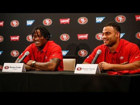 49ers Introduce Solomon Thomas and Reuben Foster