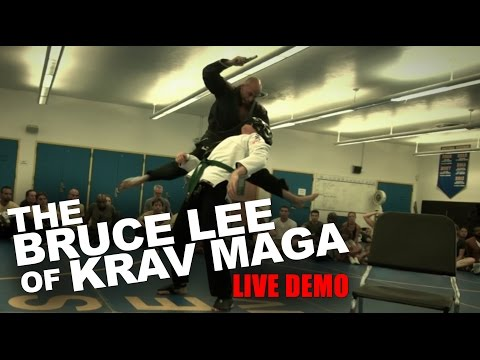 """The Bruce Lee of Krav Maga"" Roy Elghanayan's LIVE DEMO!"