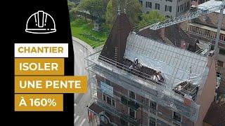 Rénovation de la toiture d'un bâtiment en centre-ville d'Annecy