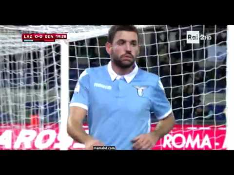 Djordjevic goal 1-0 Lazio vs Genoa Coppa Italia 16/17
