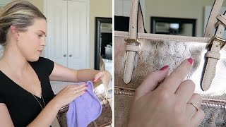 NIGHTMARE MICHAEL KORS UNBOXING! WTF!? Jet Set Travel Medium Metallic Leather Tote