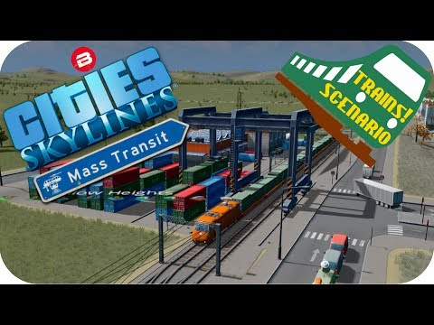Cities Skylines Gameplay: INDUSTRY CARGO TRAINS Cities Skylines MASS TRANSIT DLC TRAINS SCENARIO #6