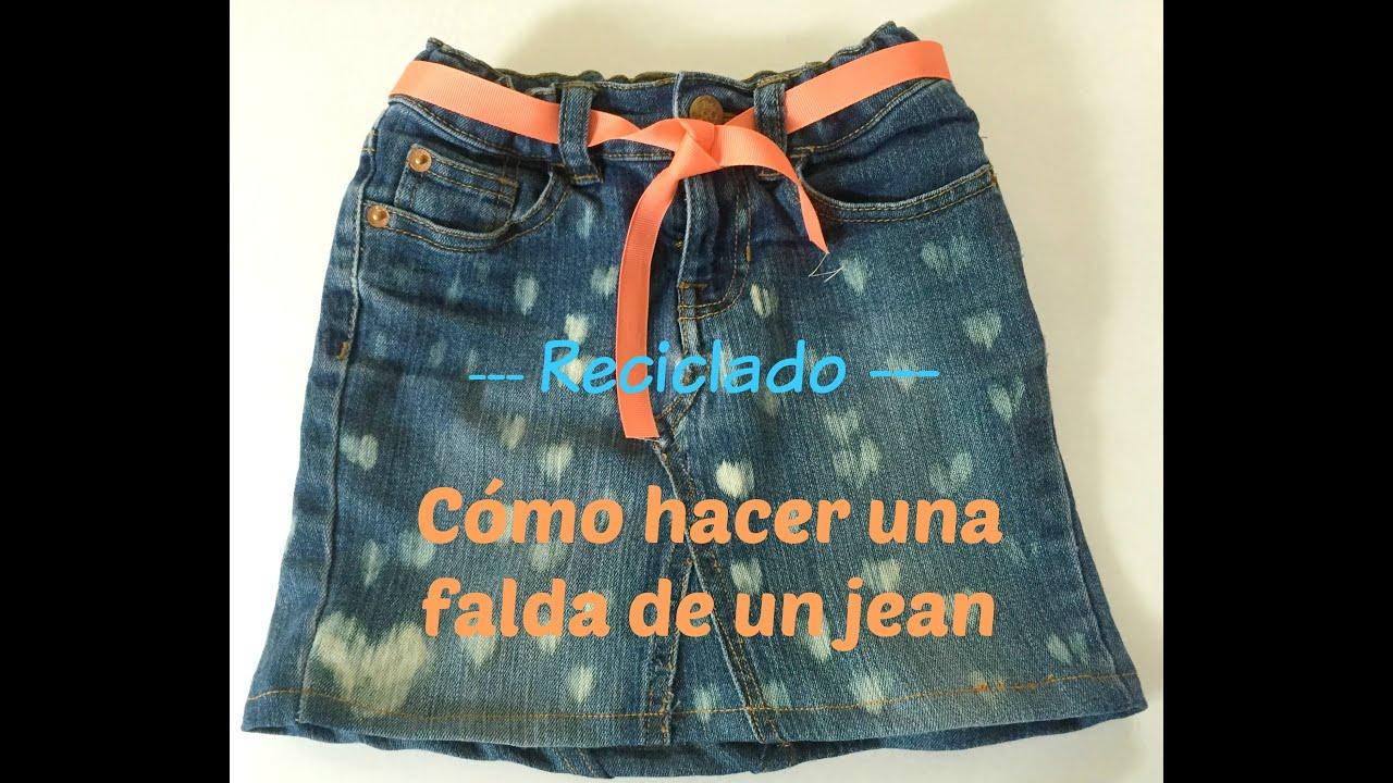 0218e7b3c Cómo transformar un Jean en una Falda #Reciclado - Mama Especial ...