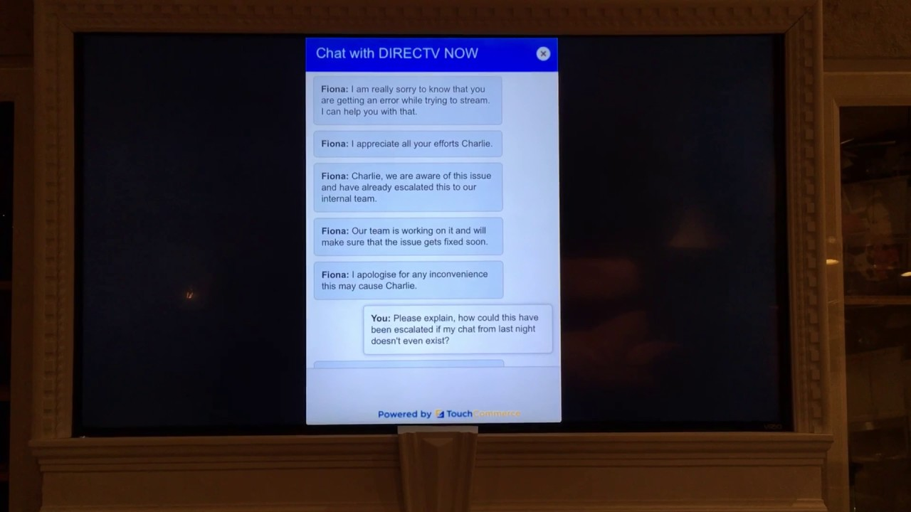 DirecTV Now Customer Service Chat Session - What Do You Think Happened?