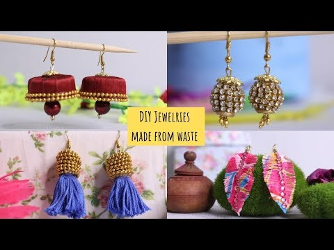 DIY Jewelry Earrings From Waste !!! Easy Jewelry Making Ideas By Aloha Crafts