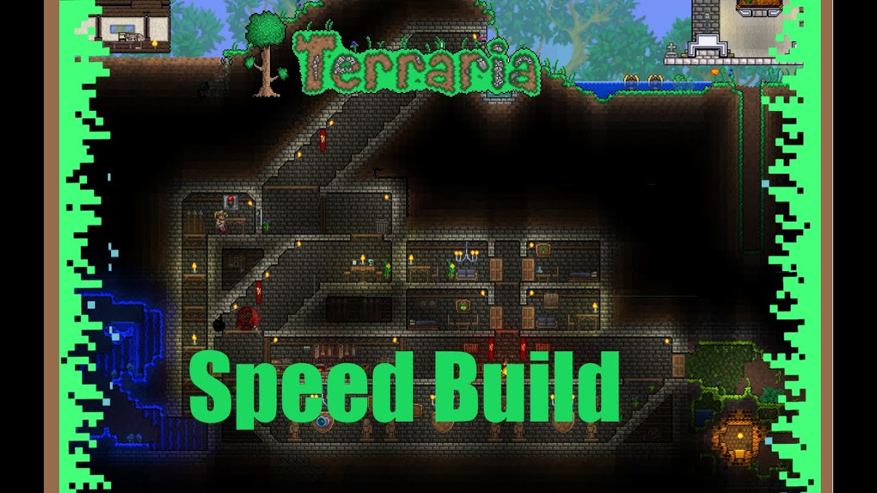 Terraria Speed Build Underground Vault Youtube