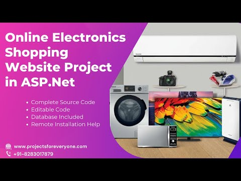 Online Electronics Shopping Website Project - ASP.Net with C#.Net and SQL Server image
