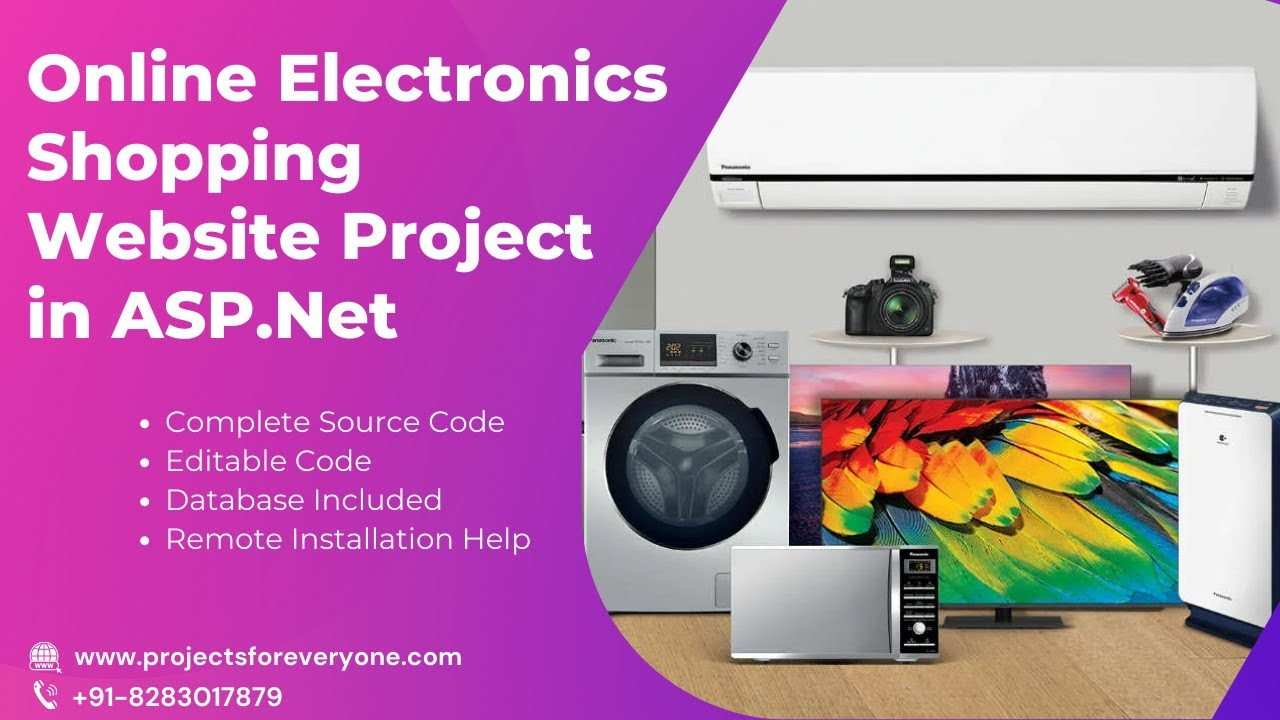 Online electronics shopping website project asp net with for Online websites for shopping