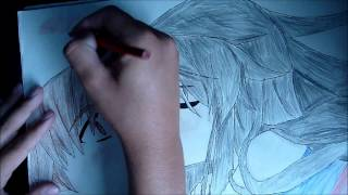 Anime speed drawing - Boy and girl kissing