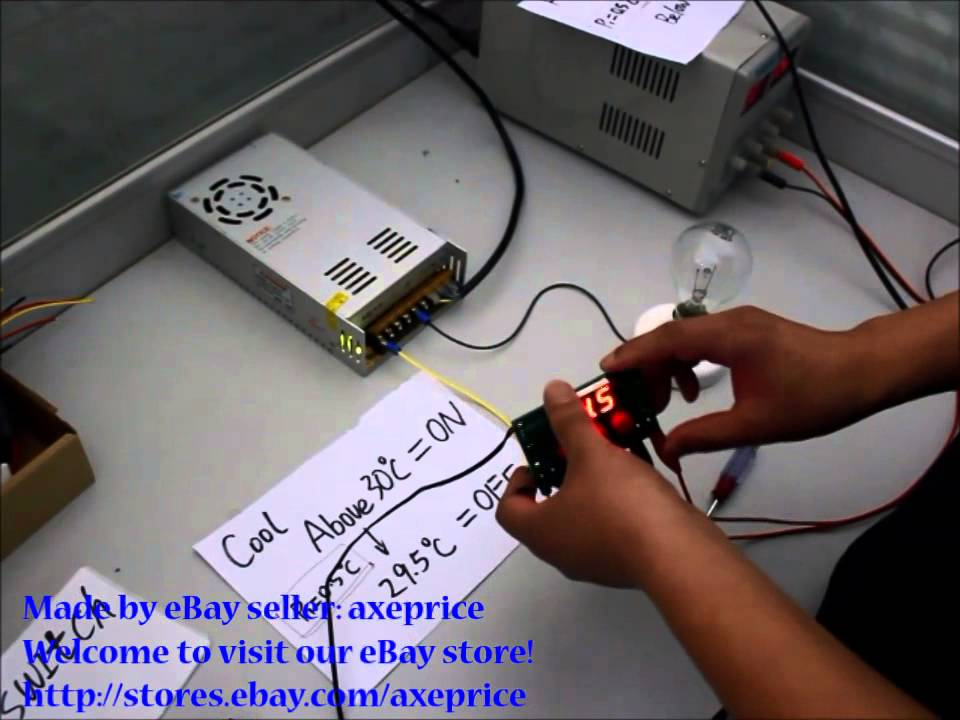 Dc 12v Digital Temperature Controller Switch Demo Youtube