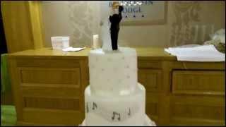 Music theme wedding cakes