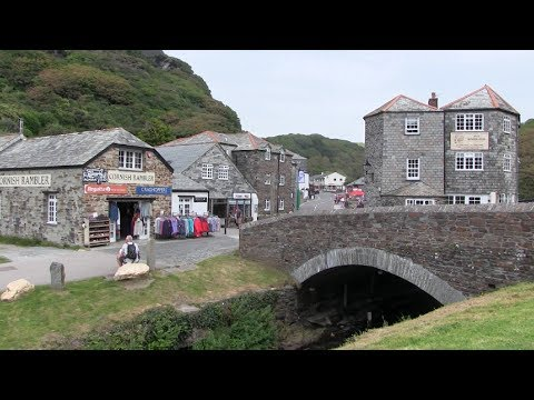 Boscastle Village And Fishing Port On The North Coast Of Cornwall.
