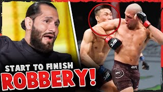 Reactions to Brian Ortega vs The Korean Zombie, Jorge Masvidal calls ROBBERY on prelim fight