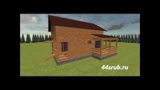 Дом из бруса 6х9, проект