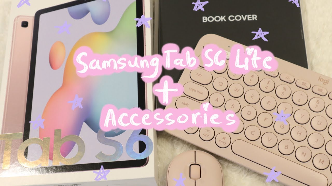 Samsung Galaxy S6 Lite Unboxing+ Accessories 📱⌨️