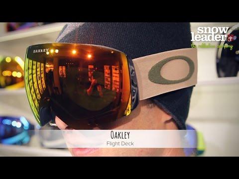 oakley flight deck masque de ski par snowleader youtube. Black Bedroom Furniture Sets. Home Design Ideas
