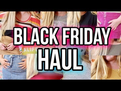 Black Friday Clothing Try On Haul Courtney Graben Youtube