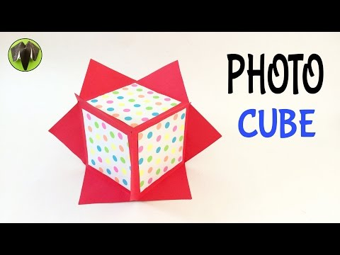 HANGING  or DESKTOP PHOTO CUBE - DIY | Handmade Tutorial by Paper Folds ❤️
