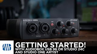 Getting Started with the AudioBox USB96 or Studio 24c and Studio One Artist