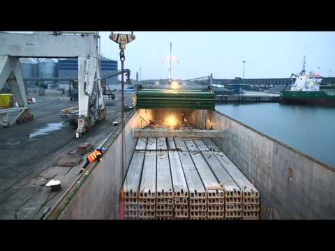 Transportation of concrete structures from Lithuania to Norway