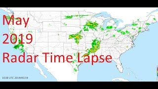 May 2019 US Weather Radar Time Lapse Animation