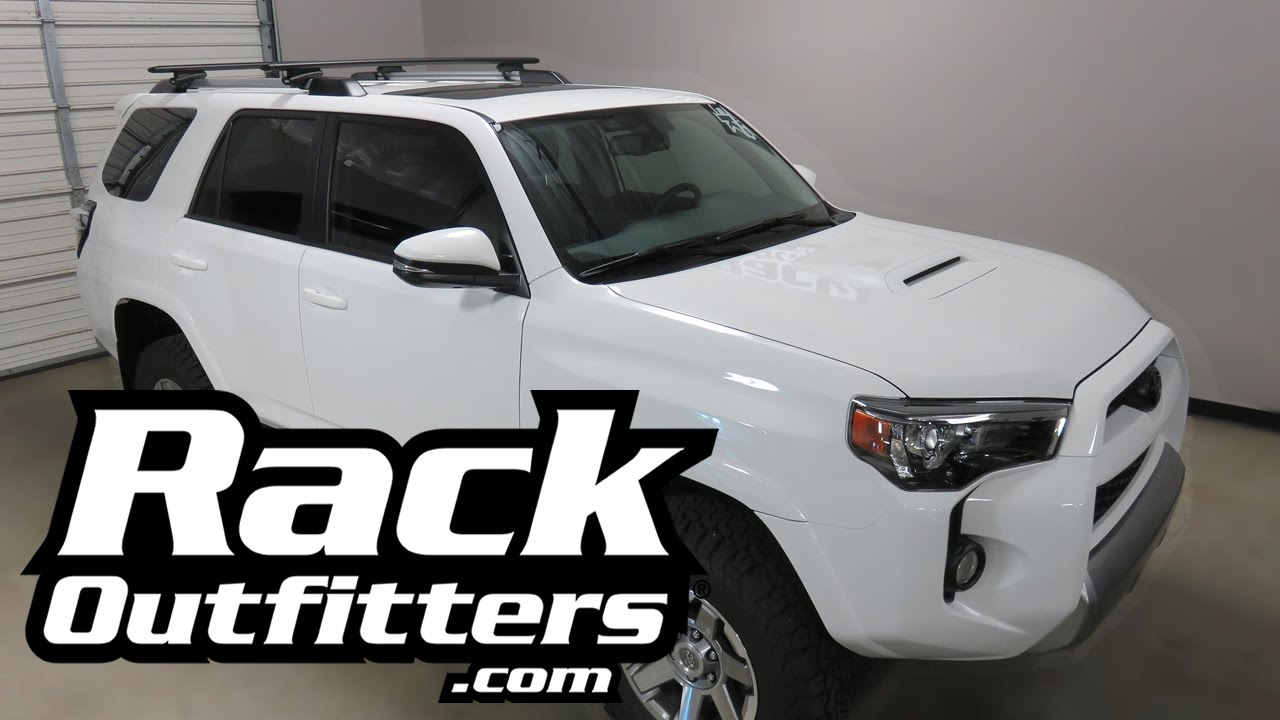 2010 2017 Toyota 4runner With Thule 450r Aeroblade Roof Rack Crossbars Youtube