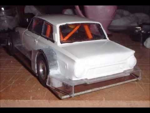 Scalextric triple engine 4WD Ford Cortina Le Mans Prototype home build