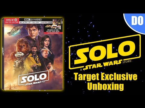 Solo A Star Wars Story Target Exclusive 4K Ultra HD Blu-ray Unboxing & Digital Giveaway