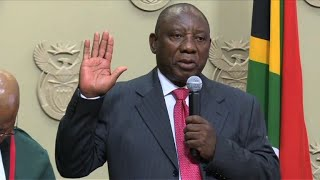 South Africa's new president, Cyril Ramaphosa