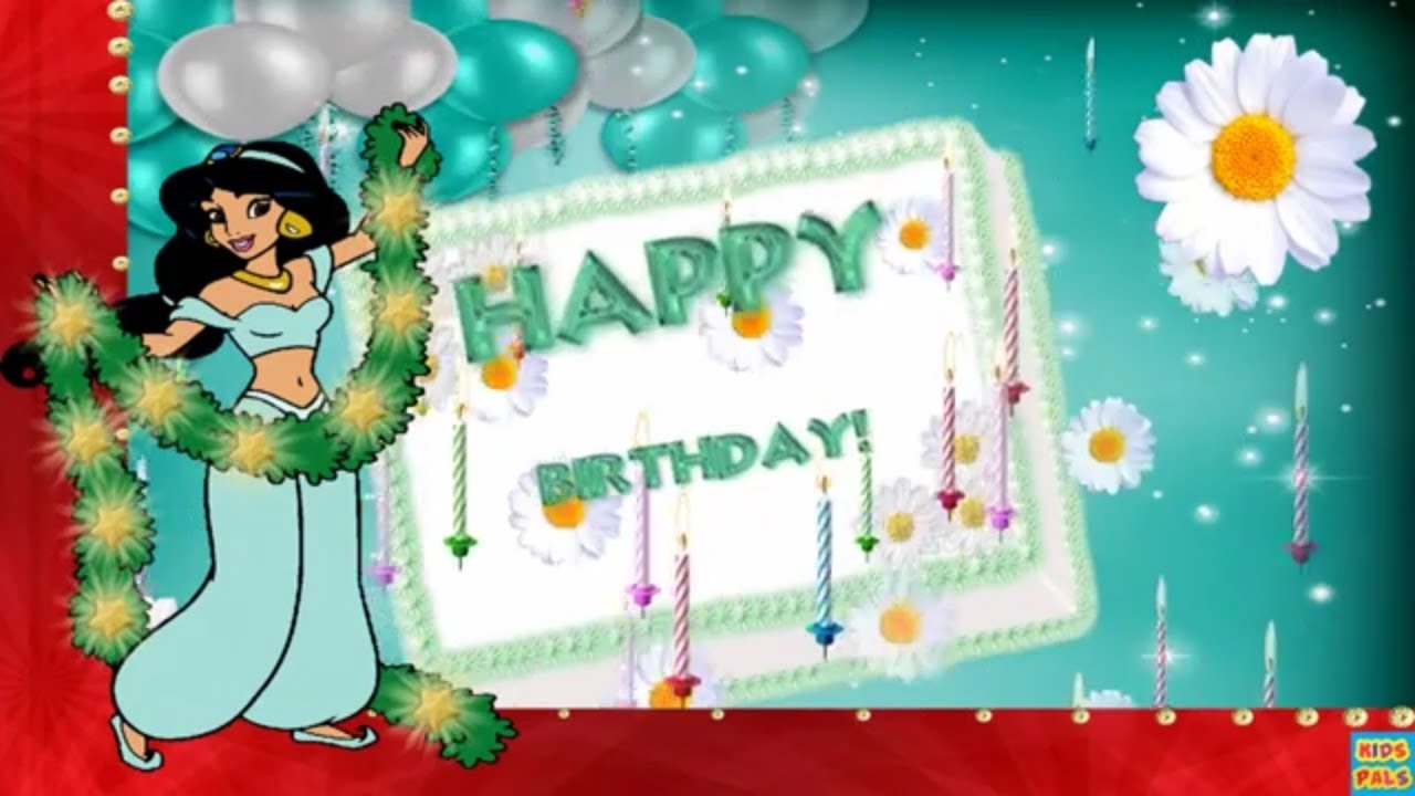 Disney princess Jasmine Happy Birthday Song - YouTube