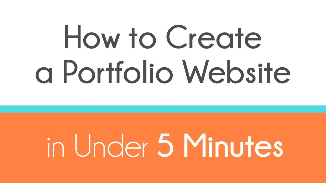 How to Create a Portfolio Website in Under 5 Minutes YouTube