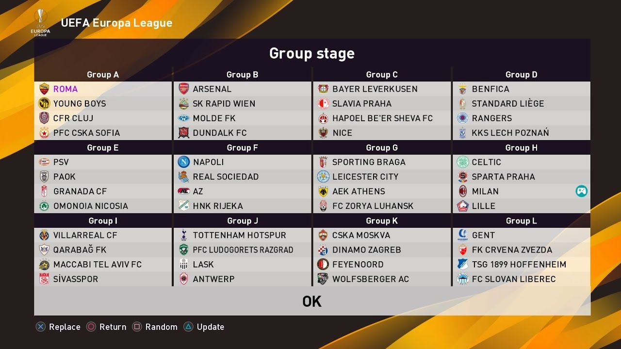 uefa europa league 2020 21 group stage pes 2020 pes 2021 youtube uefa europa league 2020 21 group stage pes 2020 pes 2021